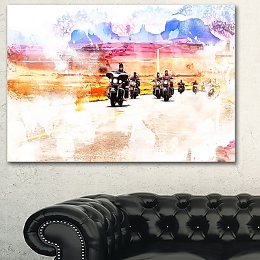 Route Biker Metal Wall Art, 28x12, (MT2812-28-12)