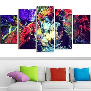 Colour Collision Metal Wall Art, 60x32, 5 Panels, (MT3078-373)