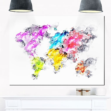 Colours of the Rainbow Map Metal Wall Art, 28x12, (MT2737-28-12)