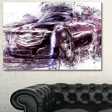 Black Convertible Car Metal Wall Art, 28x12, (MT2610-28-12)