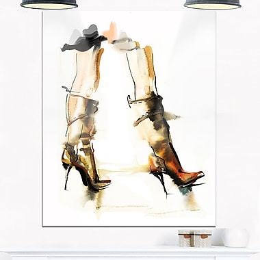 High Heel Shoes Digital Metal Wall Art, 12x28, (MT6684-12-28)