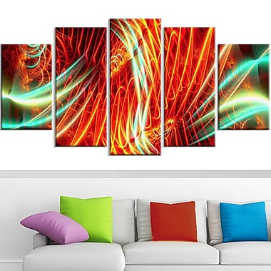 Light Show Abstract Metal Wall Art, 60x32, 5 Panels, (MT3021-373)