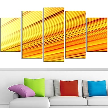Speed of Light Metal Wall Art, 60x32, 5 Panels, (MT3091-373)