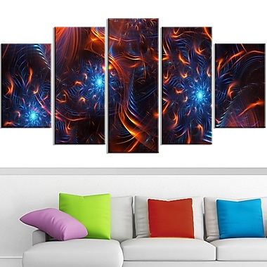 Fire & Ice Digital Metal Wall Art, 60x32, 5 Panels, (MT3001-373)