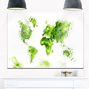 Green Map Metal Wall Art, 28x12, (MT2708-2-28-12)