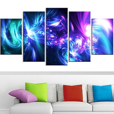 Bursts of Light Metal Wall Art, 60x32, 5 Panels, (MT3058-373)