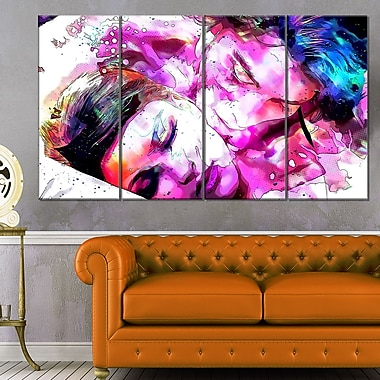 Sweet Dreams TogetherSensual Metal Wall Art, 48x28, 4 Panels, (MT2919-271)