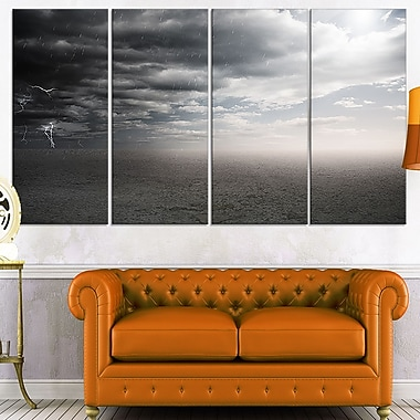 Dark Desert Landscape Photography Metal Wall Art, 48x28, 4 Panels, (MT7044-271)