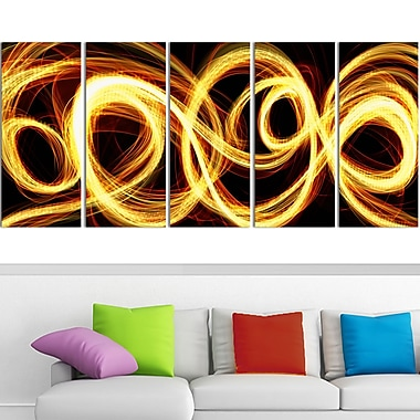 Gold Shock Abstract Metal Wall Art, 60x28, 5 Panels, (MT3016-401)