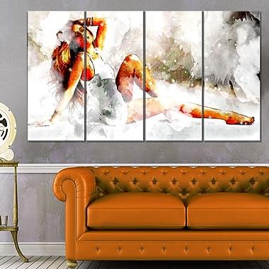 Lay Back and RelaxSensual Metal Wall Art, 48x28, 4 Panels, (MT2927-271)