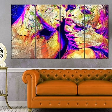 Seduce MeSensual Metal Wall Art, 48x28, 4 Panels, (MT2911-271)