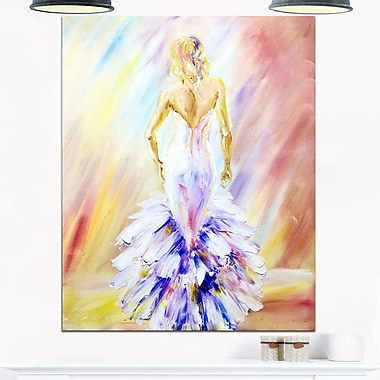 Woman at the Ball Portrait Metal Wall Art, 12x28, (MT6326-12-28)