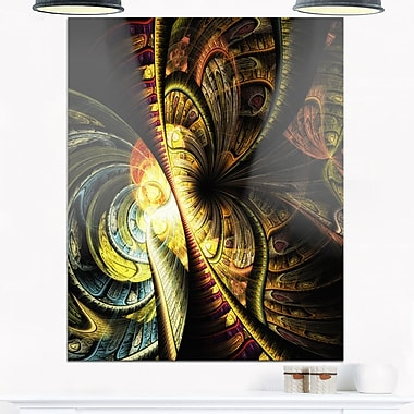 Fractal Illustration Abstract Digital Metal Wall Art, 12x28, (MT6754-12-28)