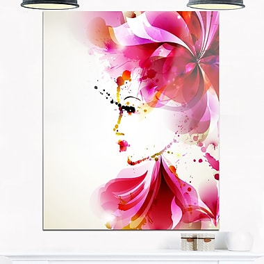 Fashion Woman with Abstract Hair Digital Metal Wall Art, 12x28, (MT6660-12-28)
