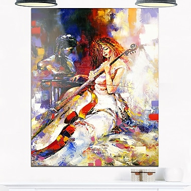 The Guitarists Music Metal Wall Art, 12x28, (MT6304-12-28)