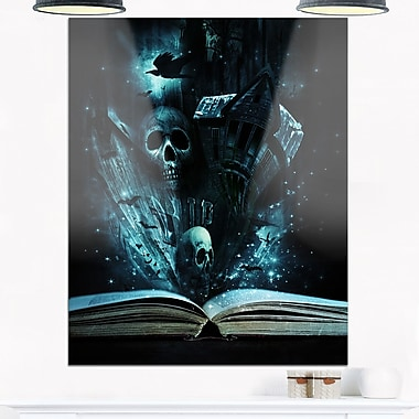 Halloween Stories Book Contemporary Metal Wall Art, 12x28, (MT6728-12-28)