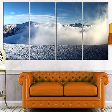 Art mural en métal, magnifique paysage d'hiver, photo paysage, 48 x 28, 4 panneaux (MT7024-271)