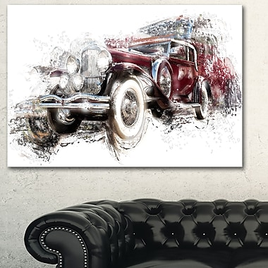 American Hot Rod Car Metal Wall Art, 28x12, (MT2655-28-12)