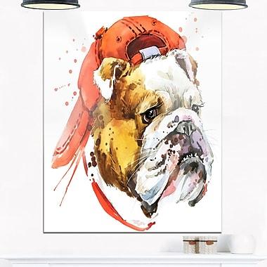 Illustration d'un bouledogue, art mural en métal, 12 x 28, (MT6062-12-28)