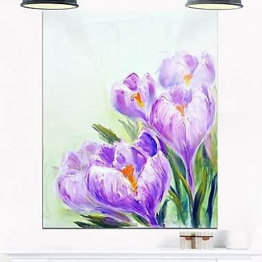 Crocuses Looking into Sky Floral Metal Wall Art, 12x28, (MT6338-12-28)