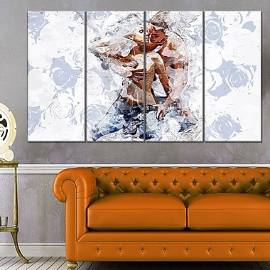 Fashion PassionSensual Metal Wall Art, 48x28, 4 Panels, (MT2912-271)