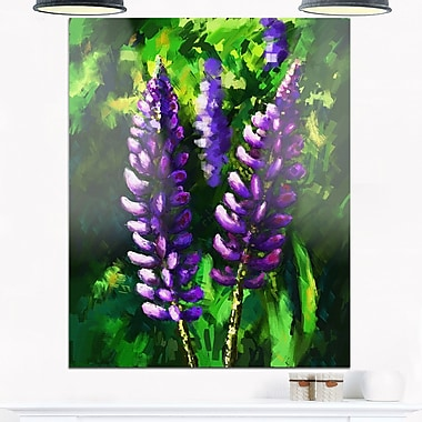 Lupin Flowers Floral Metal Wall Art, 12x28, (MT6328-12-28)