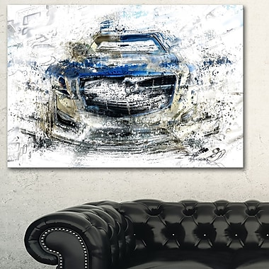 Abstract Muscle Car Metal Wall Art, 28x12, (MT2648-28-12)