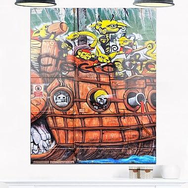 Street Art Mural Graffiti Metal Wall Art, 12x28, (MT6972-12-28)