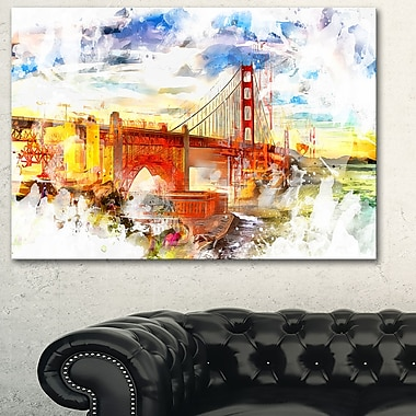 Colourfull San francisco Metal Wall Art, 28x12, (MT2814-28-12)