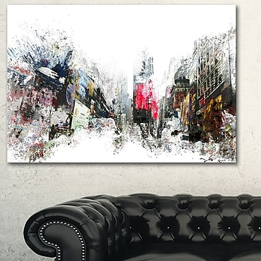 City Never Sleeps Cityscape Large Metal Wall Art, 28x12, (MT3309-28-12)