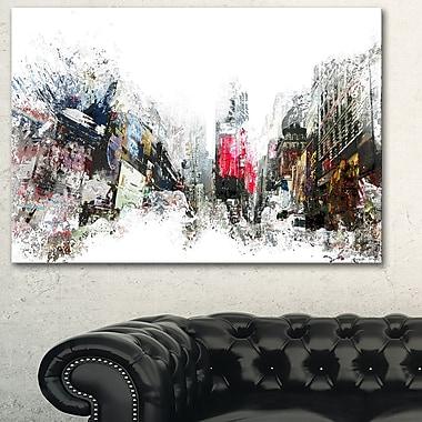 Grand art mural en métal, horizon urbain, la ville qui ne dort jamais, 28 x 12 po, (MT3309-28-12)