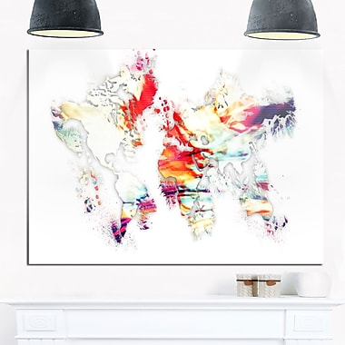 Colour Map Metal Wall Art, 28x12, (MT2730-28-12)