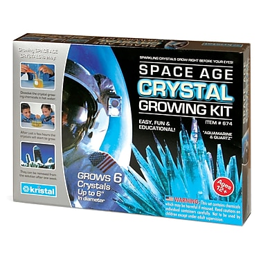 Space Age Crystals: Grow 6 Crystals, Aquamarine & Quartz, Science Kit
