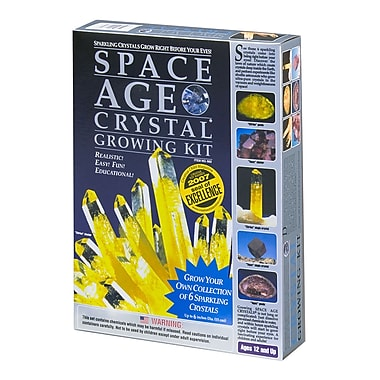 Space Age Crystals: Grow 6 Crystals, Citrine & Topaz, Science Kit