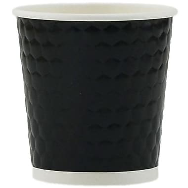Tannex Double Wall Diamond Cup, 4oz/118ml, Black