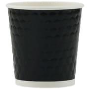 Tannex – Gobelet à losanges à double paroi, 4 oz/118 ml, noir