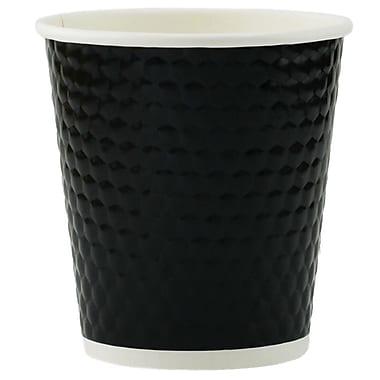 Tannex – Gobelet à losanges à double paroi, 10 oz/300 ml, noir