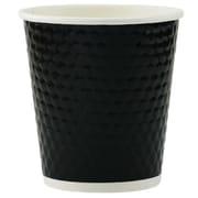 Tannex Double Wall Diamond Cup, 10oz/300ml, Black