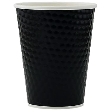 Tannex Double Wall Diamond Cup, 12oz/360ml, Black