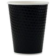 Tannex – Gobelet à losanges à double paroi, 12 oz/360 ml, noir