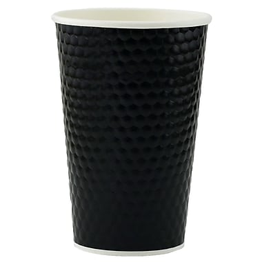 Tannex Double Wall Diamond Cup, 16oz/473ml, Black