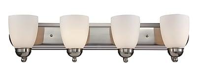 Charlton Home Enmore 4-Light Vanity Light; Rubbed Oil Bronze