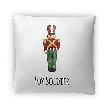 Kavka Toy Soldier Fleece Throw Pillow; 16'' H x 16'' W x 4'' D