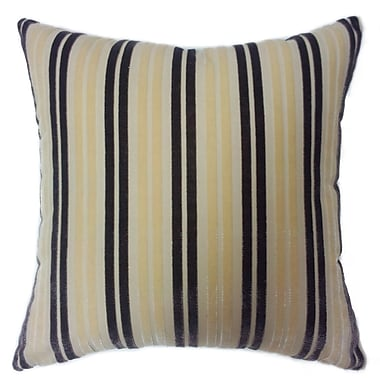 EuropaTex Stripe Throw Pillow; Beige/Purple