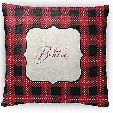 Kavka Believe Fleece Throw Pillow; 18'' H x 18'' W x 4'' D