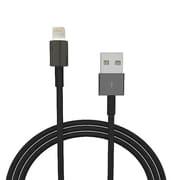 4XEM™ 8 Pin Lightning to USB Cable for iPhone/iPod/iPad, 10', Black (4XLIGHTNINGBK10)