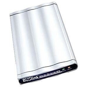 Image of Buslink Disk-On-The-Go DRF-500-U2 500GB SATA Encrypted Portable External Hard Drive, Silver