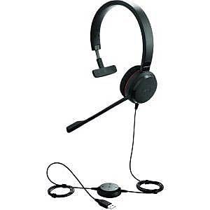 Jabra® Jabra Evolve 30 II MS Mono On-Ear Professional Headset with Noise Canceling Microphone, Black