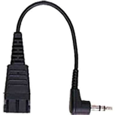 Jabra® 8734-749 6.6' Mini-Phone Stereo to Quick Disconnect Male/Male Audio Cable Adapter, Black