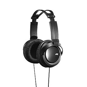 JVC HARX330 Over-the-Head Full Size Stereo Wired Headphones, Black